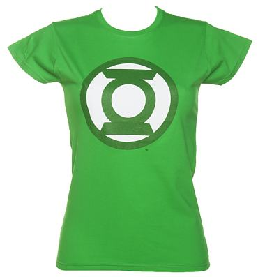Ladies Classic Green Lantern Logo T-shirt from Urban Species