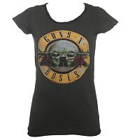 Ladies Classic Guns N Roses Drum T-Shirt from Amplified Vintage