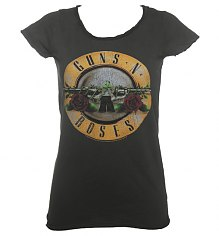 Ladies Classic Guns N Roses Drum T-Shirt from Amplified Vintage [View details]