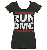 Ladies Classic Run DMC Logo T-Shirt from Amplified Vintage