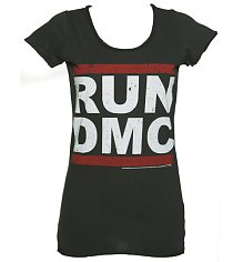 Ladies Classic Run DMC Logo T-Shirt from Amplified Vintage [View details]