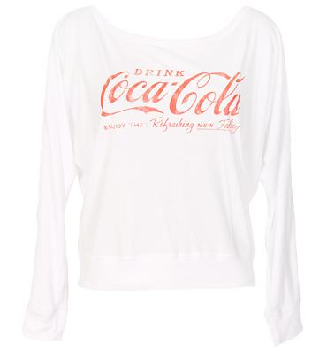 Ladies Coca Cola Off The Shoulder Lightweight Jersey Jumper