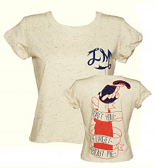 Ladies Cream Speckled Don't You Forget About Me Cropped Slouch T-Shirt from Illustrated Mind [View details]