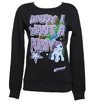 Ladies Daddy I Want A Pony Sweater