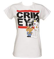 Ladies Danger Mouse Crikey T-Shirt from Sticks and Stones