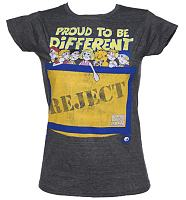 Ladies Dark Heather Proud To Be Different Raggy Dolls Reject Bin T-Shirt