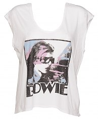 Ladies David Bowie Rainbow Scoop Sleeveless T-Shirt from Junk Food [View details]