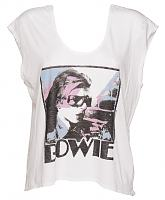 Ladies David Bowie Rainbow Scoop Sleeveless T-Shirt from Junk Food