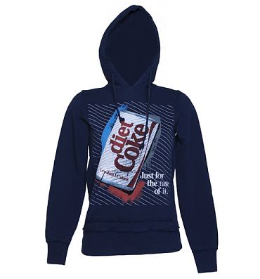 Ladies Diet Coke Retro Stripes Heavyweight Hoodie