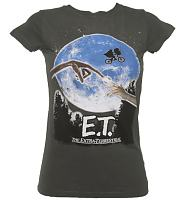 Ladies E.T. The Extra-Terrestrial Vintage Longline T-Shirt