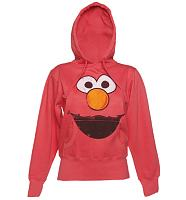 Ladies Elmo Face Sesame Street Hoodie