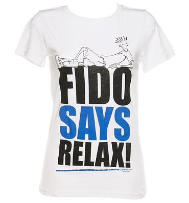 Ladies Fido Dido Fido Says Relax T-Shirt from Too Late To Dye Young