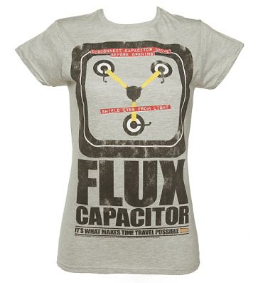 Ladies Flux Capacitor Back To The Future Glow In The Dark T-Shirt