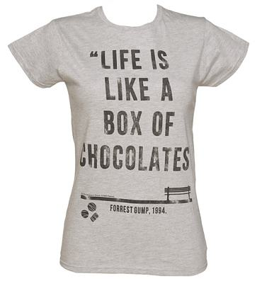 Ladies Forrest Gump Box Of Chocolates Quote T-Shirt