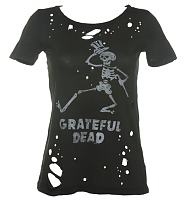 Ladies Grateful Dead Destroyed Cobweb T-Shirt from Chaser LA