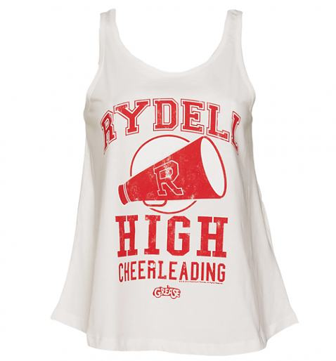 Ladies Grease Rydell High Cheerleading Swing Vest