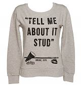 Ladies Grease Tell Me About It Stud Quote Pullover