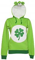 Ladies Green Good Luck Bear Care Bears Hoodie