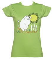 Ladies Green Moomins Beware Hattifatteners T-Shirt