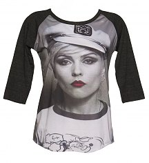 Ladies Grey And Black Debbie Harry Sailor Baseball T-Shirt from Dirty Cotton Scoundrels [View details]