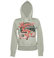 Ladies Grey Coca Cola Holidays Are Coming Truck Hoodie
