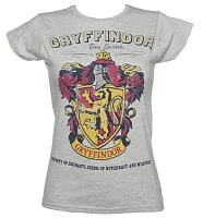 Ladies Grey Harry Potter Gryffindor Team Quidditch T-Shirt