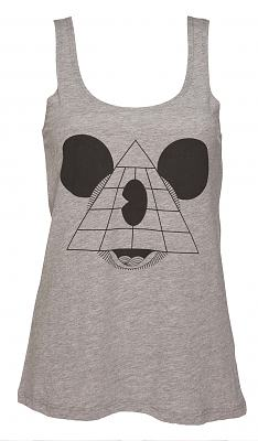 Ladies Grey Marl Mouse Pyramid Swing Vest from To The Black