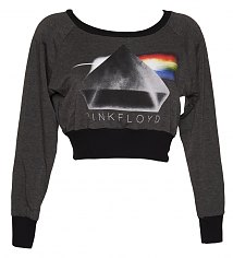 Ladies Grey Marl Pink Floyd Cropped Sweater from Dirty Cotton Scoundrels [View details]