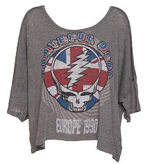 Ladies Grey Marl Slouchy Grateful Dead T-Shirt from Chaser LA [View details]