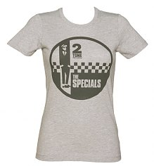 Ladies Grey Marl Specials Two Tone Records Logo T-Shirt from Dirty Cotton Scoundrels [View details]