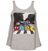 Ladies Grey Pac-Man Abbey Road Swing Vest