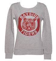 Ladies Grey Saved By The Bell Bayside Tigers Sweater