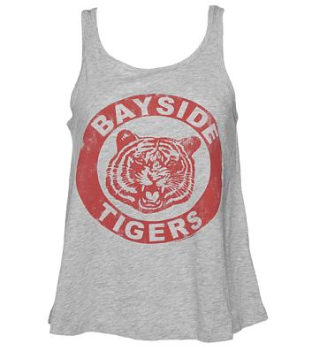 Ladies Grey Saved By The Bell Bayside Tigers Swing Vest
