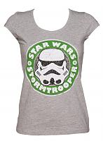 Ladies Grey Stormtrooper Emblem Star Wars T-Shirt