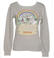 Ladies Grey Rainbow Theme Tune Jumper