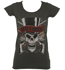 Ladies Guns N Roses Deaths Head T-Shirt from Amplified Vintage [View details]