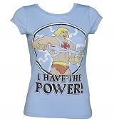 Ladies He-Man I Have The Power Vintage T-Shirt