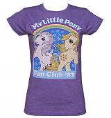 Ladies Heather Purple My Little Pony Fan Club '83 T-Shirt
