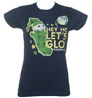 Ladies Hey Ho Let's Glo Glo Worm T-Shirt