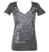 Ladies Jane Austen Pride And Prejudice Novel V-Neck T-Shirt from Out Of Print