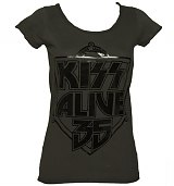 Ladies KISS Alive 35 Foil T-Shirt from Amplified Vintage
