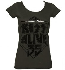 Ladies KISS Alive 35 Foil T-Shirt from Amplified Vintage [View details]