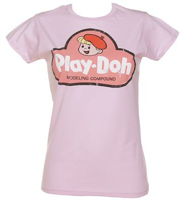 Ladies Light Pink Vintage Play-Doh T-Shirt