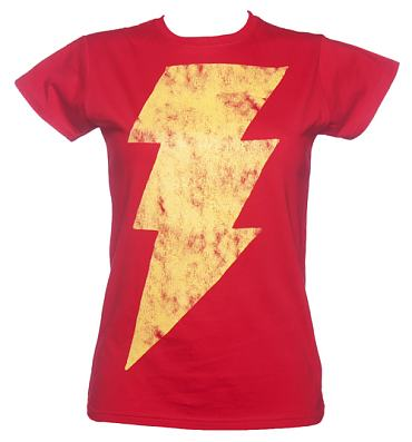 Ladies Lightning Flash Shazam T-Shirt