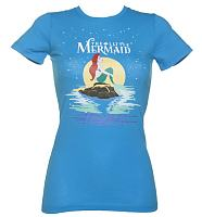 Ladies Little Mermaid On The Rocks T-Shirt
