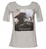 Ladies Grey Marl Ludo And Sarah Friend Labyrinth Slouch Scoop Neck T-Shirt