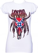 Ladies Lynyrd Skynyrd Buffalo White T-Shirt from Amplified Vintage