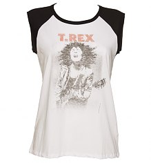 Ladies Marc Bolan T-Rex Sleeveless Baseball T-Shirt from Junk Food [View details]