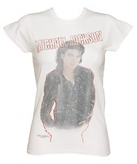 Ladies Michael Jackson Faded Bad Self T-Shirt [View details]