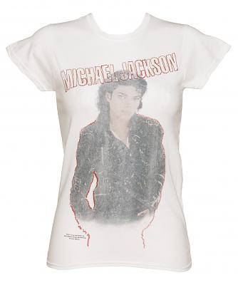 Ladies Michael Jackson Faded Bad Self T-Shirt